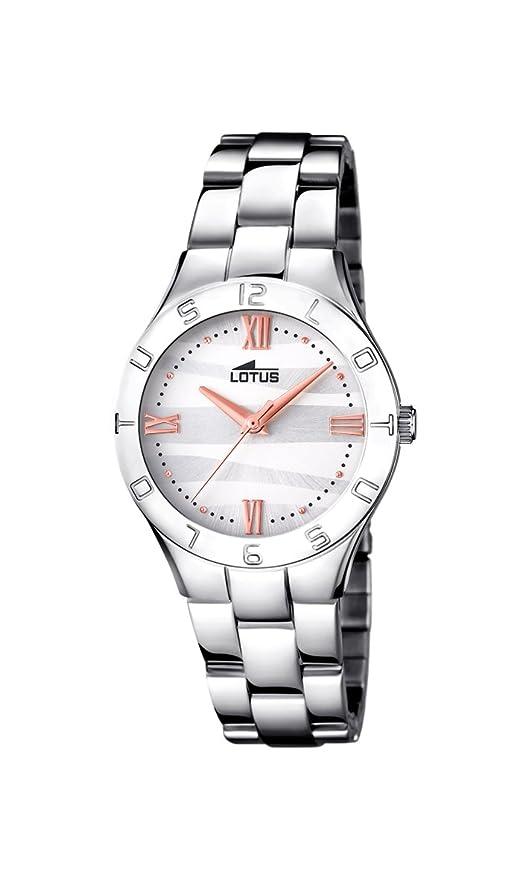 Uhr Watches Edelstahl Quarz Lotus Armband Klassisch Datum Damen Mit TlFK3cu1J5