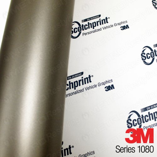 5ft x 25ft (125 Sq/ft) 3M MATTE Gray Aluminum M230 Scotchprint Car Wrap Vinyl Film 1080 Series