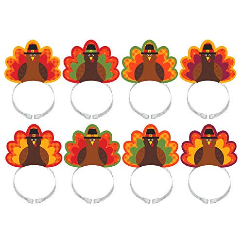 Turkey Headbands - Amscan Thanksgiving Turkey Headbands Multi-Pack -