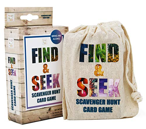 Find and Seek Scavenger Hunt Outdoor Indoor Card Game for Kids