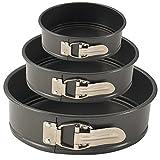 Springform Pan Set of 3 Nonstick Baking Pans 6''/7''/9''