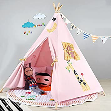 Pericross Kids Teepee Tent Indian Play Tent Childrenu0027s Playhouse for Outdoor and Indoor Play (Pink  sc 1 st  Amazon.com : tipi tent kids - memphite.com