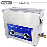 limplus 6.5l 180W 40kHz Laboratory Use Ultrasonic Cleaner with Mechanical Knob Timer and Heater Free Basket