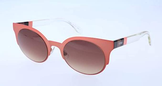 84d79c3abdfc Image Unavailable. Image not available for. Color  Fendi Cat Eye Brown  Double Shade Sunglasses
