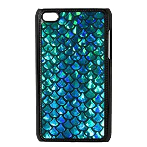 Customized Fashion Mermaid Scales Design Hard Cover Case For iPod Touch 4th Generation