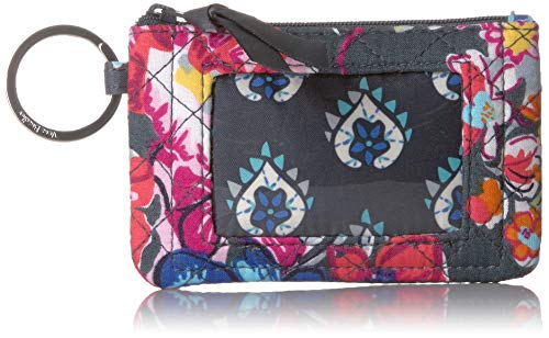 Vera Bradley Iconic Zip ID Case, Signature Cotton, Pretty Posies -