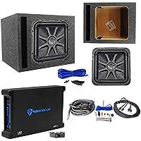 Kicker L7S124 12 Solobaric L7S Car Sub+Vented Enclosure+750W Amplifier+Amp Kit