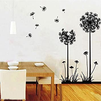 Image Unavailable. Image Not Available For. Color: Dandelion Wall Sticker Living  Room Home Decoration Car Decor Creative ...