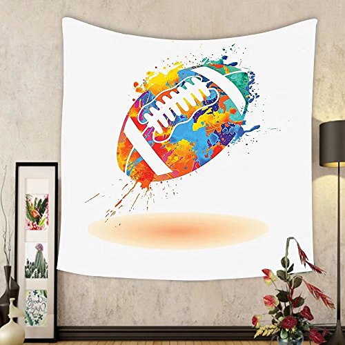 Gzhihine Custom tapestry Sports Decor Tapestry Spherical Soccer Ball Illustration with Colorful Distressed Details Like in Motion Art Graphic Bedroom Living Room Dorm Decor 60 x 80 Multi by Gzhihine