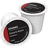 Amazon Brand - 24 Ct. Solimo Coffee Pods, French Roast, Compatible with Keurig 2.0 K-Cup Brewers