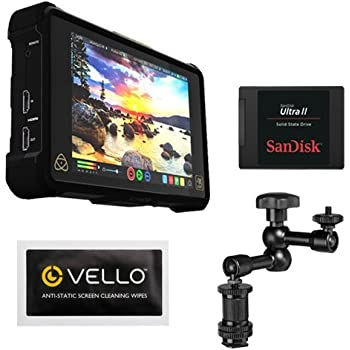 Atomos Shogun Inferno   7 Inch Touchscreen Recording Camera Monitor Bundle with SanDisk 240GB Ultra II Internal Solid State Drive + Pearstone 7.5
