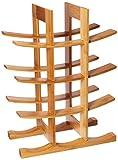 FURINNO Dapur Bamboo 12-Bottle Wine Rack, Natural