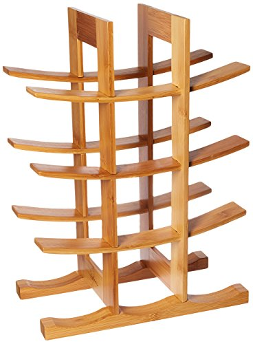 FURINNO Dapur Bamboo 12-Bottle Wine Rack, Natural For Sale