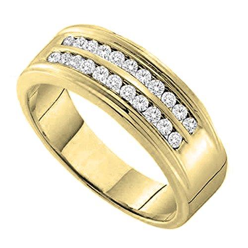 Diamond 14ky Mens Ring - 5