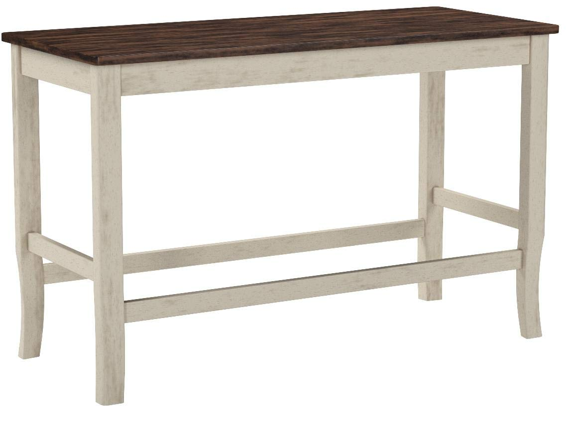Furniture of America CM3326WC-PBN Dover II Counter Height Seating Bench by Furniture of America (Image #1)