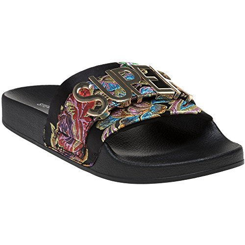 Madden Steve Black Word Sandals Black Slipper Odqd6