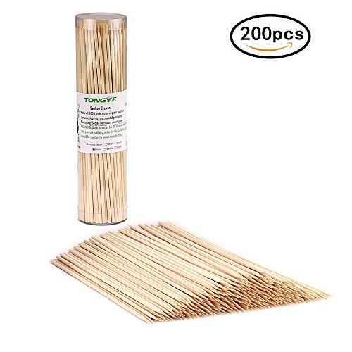 Grill Kabob Chicken (Premium Natural BBQ Bamboo Skewers for Shish Kabob, Grill, Appetizer, Fruit, Corn, Chocolate Fountain, Cocktail and More Food, More Size Choices 4