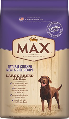 NUTRO MAX Large Breed Adult Dog Food Natural Chicken Meal and Rice Recipe 30 Pounds