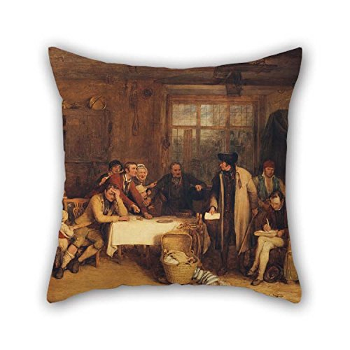 Cushion Cases 16 X 16 Inches   40 By 40 Cm Twin Sides  Nice Choice For Club Car Seat Wife Lounge Bar Seat Living Room Oil Painting Sir David Wilkie   Distraining For Rent