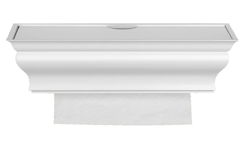 Amazon com   Wood multifold paper towel dispenser  interlocking single  sheets  wall mount  top load  White Traditional Healthy Shelf   Bathroom  Cleaner. Amazon com   Wood multifold paper towel dispenser  interlocking