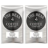 The Bean Coffee Company Organic Unroasted Green Coffee Beans, Guatemalan, 16-Ounce Bags (Pack of 2)