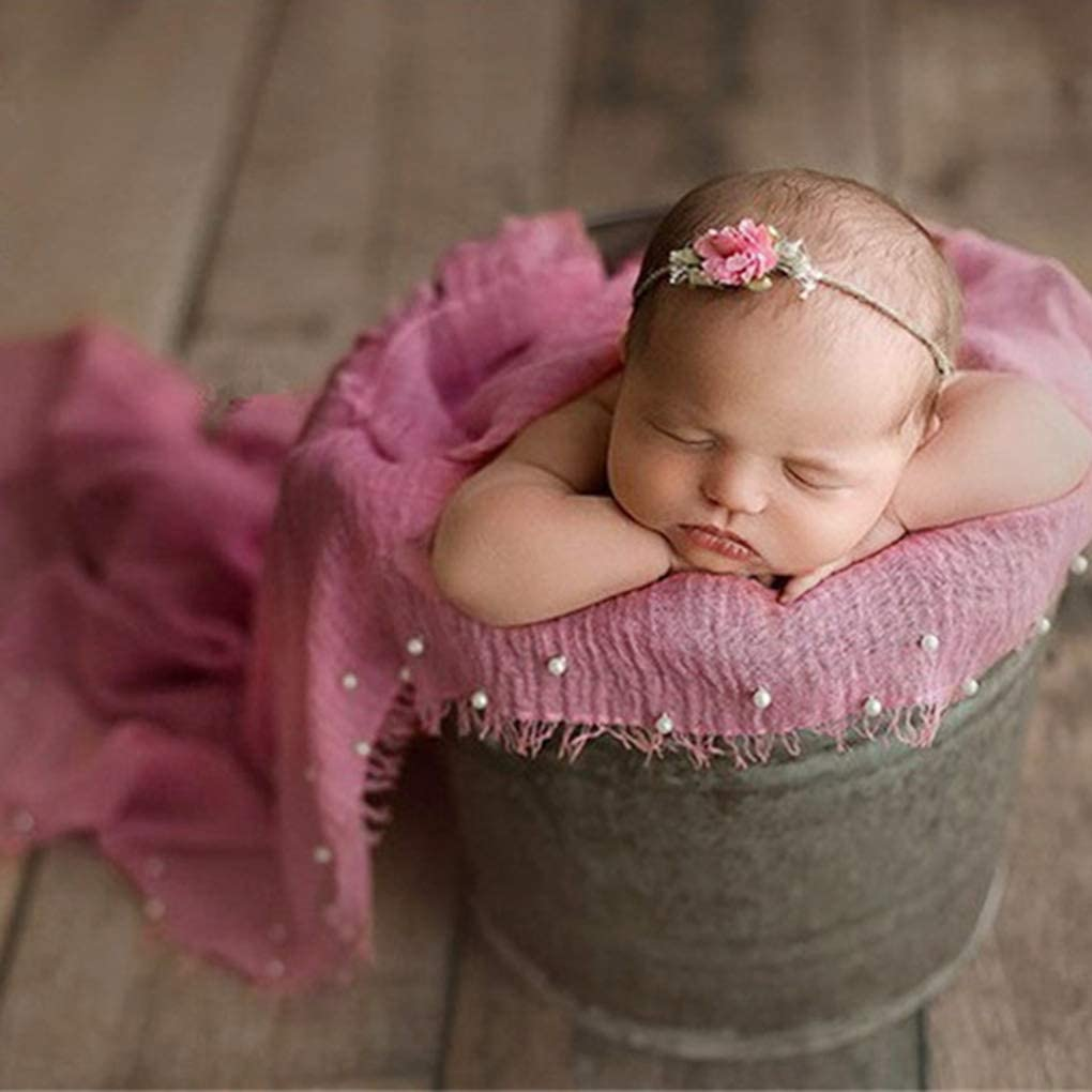 Kongnijiwa Neugeborene Fotografie Props Stretch Wraps Perle Baby-Jungen-Stretch-Wraps Perlen Baby Fotoshooting Posing Prop Infant Schie/ßen Wrap