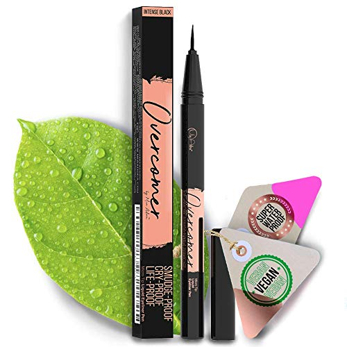 Premium Black Eyeliner with Precise Micro-Tip [Easy to Use], Waterproof, Smudgeproof – Free of Oil, Paraben & Cruelty. Long Lasting (12 Hour Wear), Lash Extensions & Falsies Safe