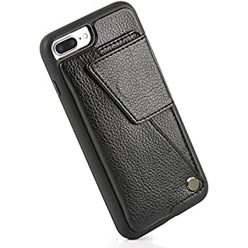 iPhone 7 Plus / iPhone 8 Plus Wallet Case, ZVE Leather Durable Shockproof iPhone 7 / 8 Plus Card Holder Cases with ID Credit Card Slot for Apple iPhone 7 Plus (2016) / iPhone 8 Plus (2017) - Black