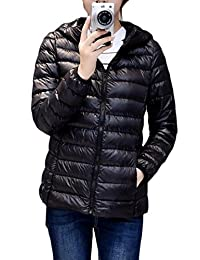 Fulok Womens Lightweight Packable Hooded Down Jacket Outwear Puffer Coat