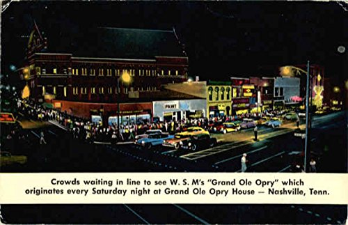 Grand Ole Opry House Nashville, Tennessee Original Vintage Postcard by CardCow Vintage Postcards