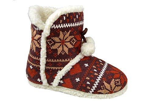 gibra - Zapatillas de estar por casa de tela para mujer 42 marrón