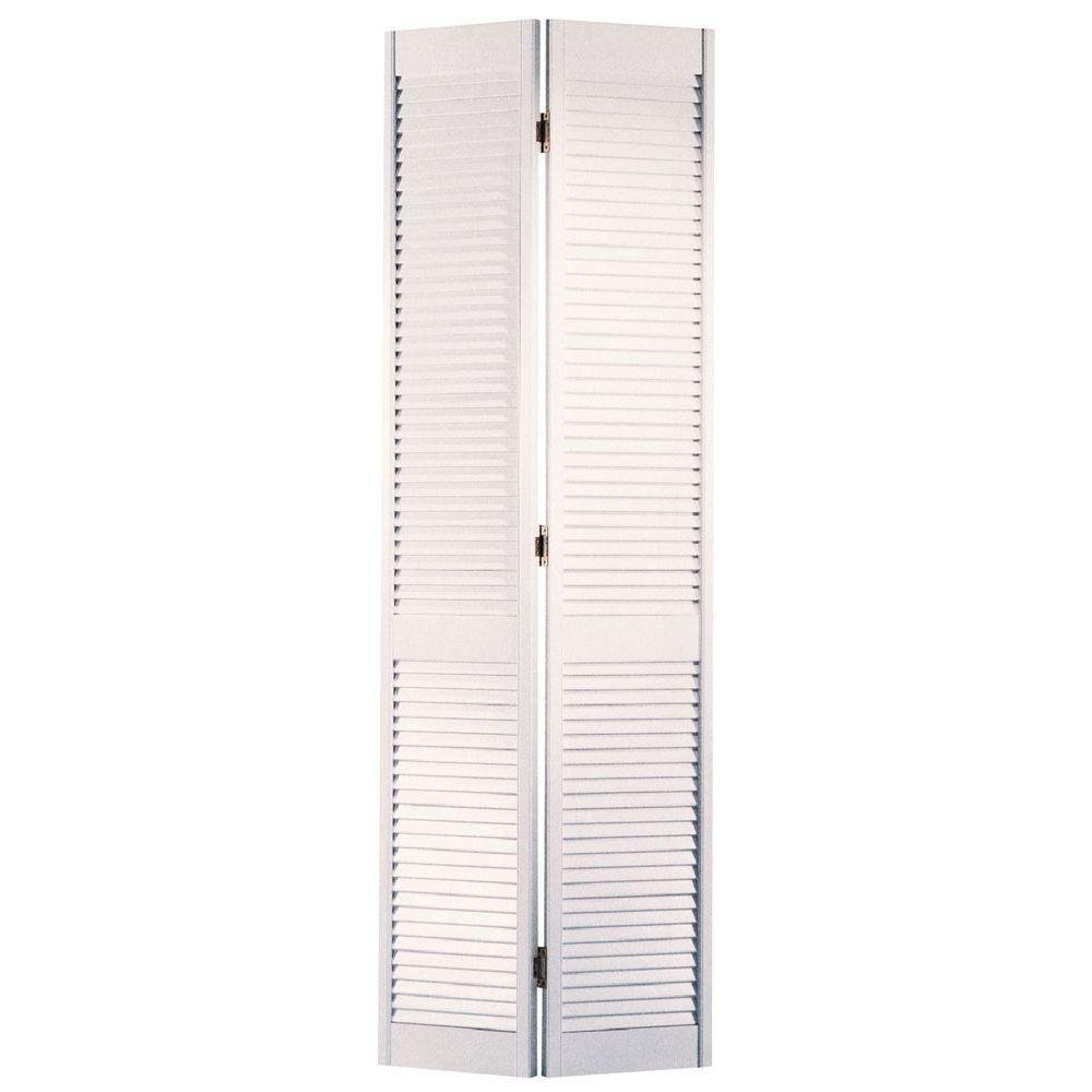 Masonite 36 In. x 80 In., Interior Bifold Door in White, Louver Louver