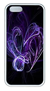 iPhone 5 5S Case Purple Smoke TPU Custom iPhone 5 5S Case Cover White