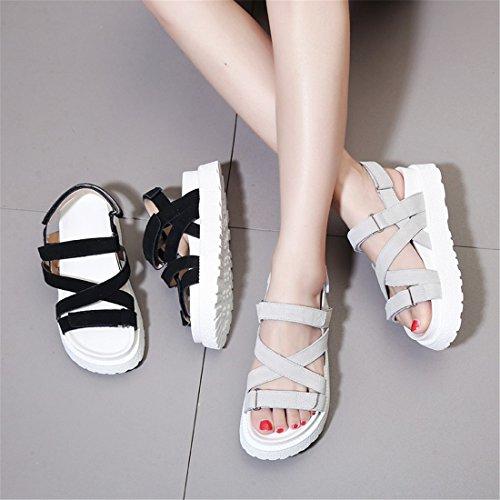 de de Zapatos Informal 35 Fondo Blanco Grueso Playa Mujeres arroz con de Fondo Sandalias de Zapatos de Verano Romaniping Yxp7wR