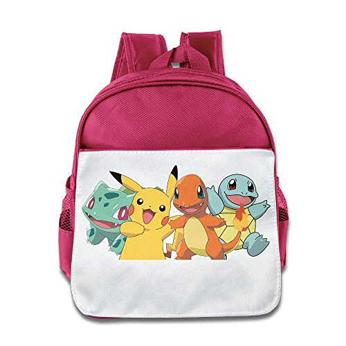 JXMD Custom Cute The Poke Team Kids Children School Bagpack Bag For 1-6 Years Old Pink (Disney Infinity Pikachu)