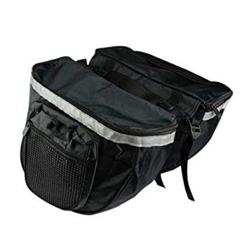 72e784077fd2 XB AMZ Bike Pannier Rack Trunk Cycling Saddle Bag Bicycle Tail Luggage  Cycle Double Carrier Rear Seat Backpack 25Litres Reflective Strips Enlarged  Pockets ...