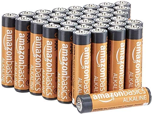 Amazon Basics 36 Pack AAA High-Performance Alkaline Batteries, 10-Year Shelf Life, Easy to Open Value Pack