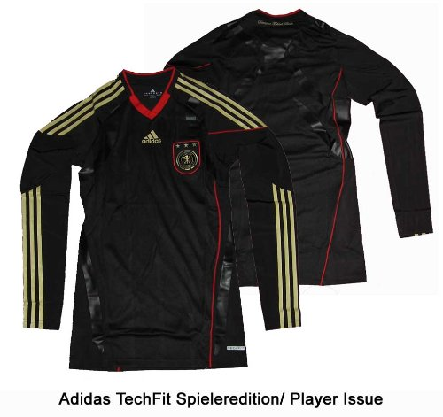 Germany DFB Jersey Adidas Away Techfit Powerweb Player Issue Longsleeve Large