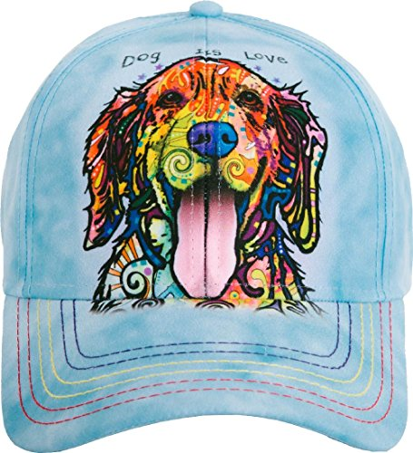 The Mountain Unisex-Adult's Dog is Love Baseball Cap, Blue, Adjustable