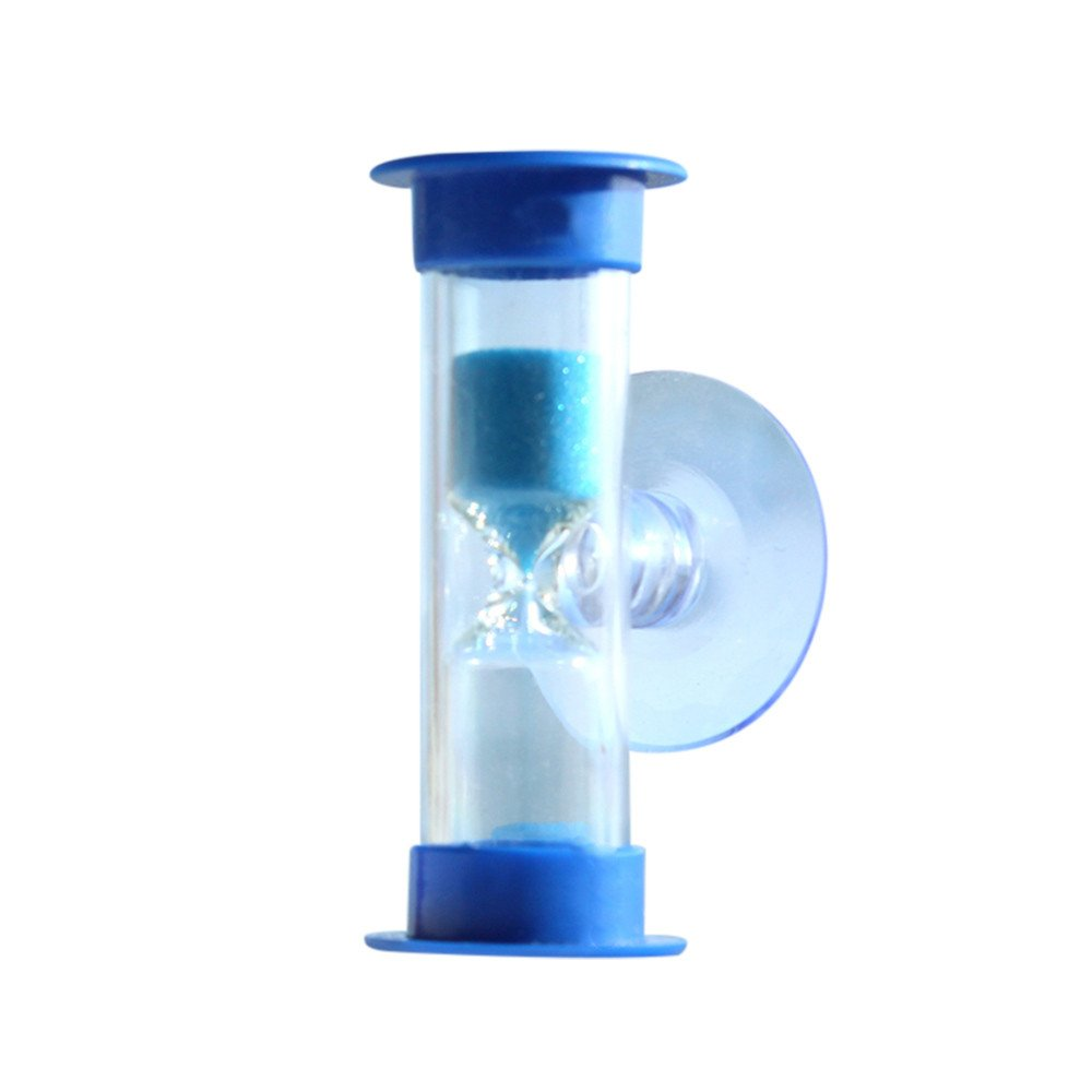 Sand Timers,WensLTD 3Minutes Mini Hourglass for Shower Timer/Teeth Brushing Timer with Suction Cup (Blue)
