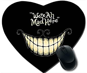 Unique Design We'Re All Mad Here Anti Slip Comfort Mouse Pad Heart-Haped