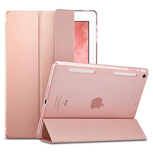 ESR iPad mini Case, iPad mini 2 Case, [Corner/Bumper Protection] Soft TPU Bumper Edge Smart Case with Auto Sleep/Wake Function for Apple iPad mini 1/2/3 (Rose Gold)