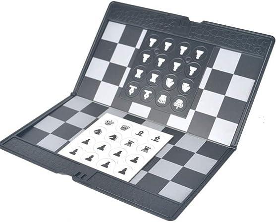 Ajedrez Juego de ajedrez de viaje con tablero de ajedrez plegable Juguetes educativos para niños y adultos Juego de tablero de ajedrez de viaje portátil Juegos de ajedrez para niños y adultos: