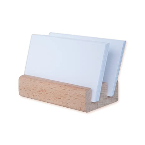 Porte Carte De Visite Presentoir Cartes Credit Commercial Business Card En Bois Durable Support Telephone