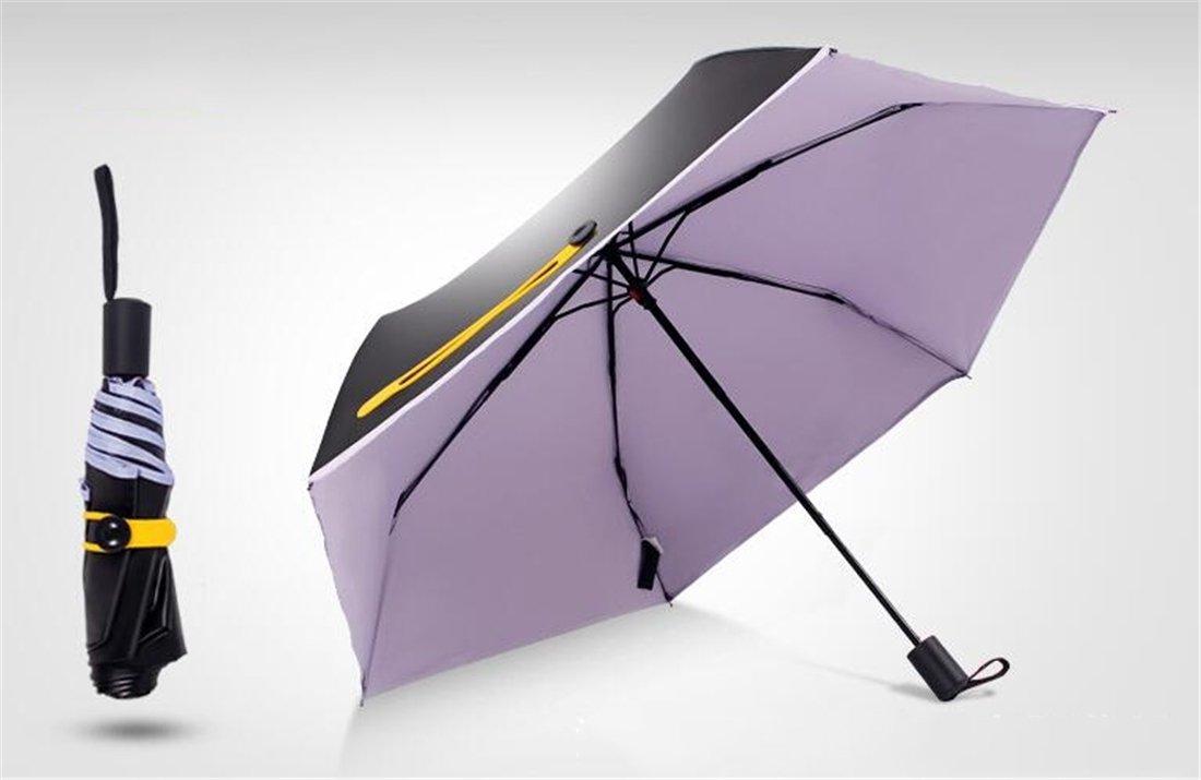 Tmrow 1pc Compact Travel Umbrella Outdoor Portable Sun Rain Umbrella UV Protect,Purple by Tmrow (Image #1)