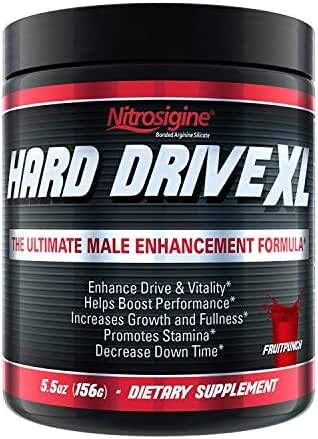 Hard Drive XL #1 Testosterone Booster l Nitric Oxide Supplement l Increase Blood Flow, Energy, Drive, Performance l 30 Day Supply
