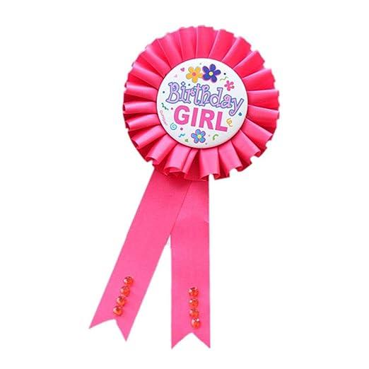 Broche para fiesta de cumpleaños infantil, diseño de lazo ...