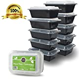 DuraHome - Food Storage Containers with Lids - 24oz. Meal Prep Containers, 10 Pack, Made in USA , BPA-Free Plastic Container, Microwaveable, leakproof