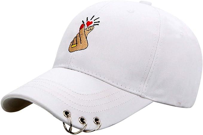 Qiao Nai Hombres Mujeres Negro Rosa Gorras de Béisbol Sombreros ...