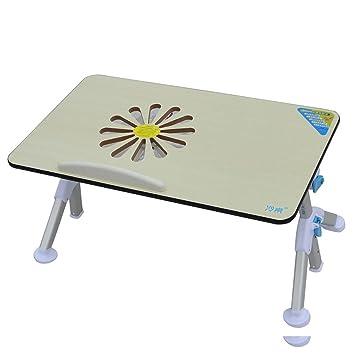 Treezone Mesas auxiliares Plegables Mesa Plegable Bandeja de Cama Soporte para Ordenador portatil Soporte para portatil, 1x Ventilador, Negro: Amazon.es: ...